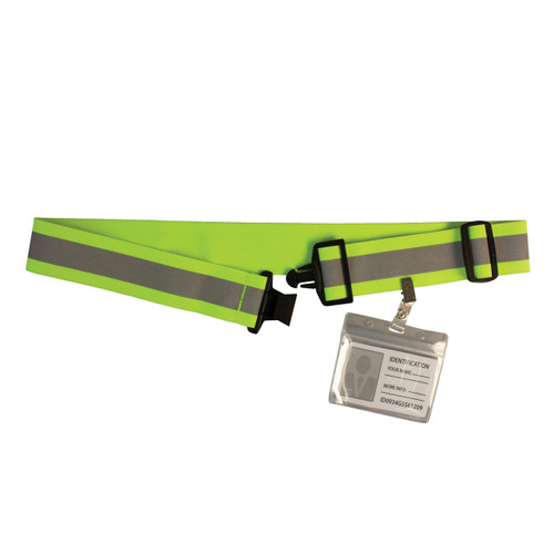 Reflective Elastic Belt - Yellow
