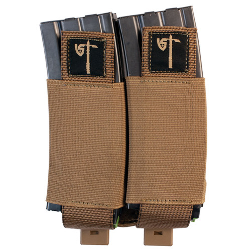 Double Mag Pouch - Coyote - Front