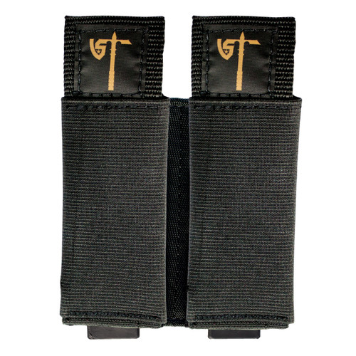 Double Mag Pouch - Black - Front