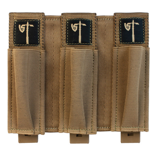 Triple Pistol Mag Pouch - Coyote - Front