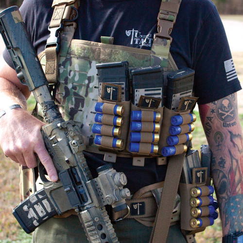 Double Mag Shotgun Pouch - Coyote - Front