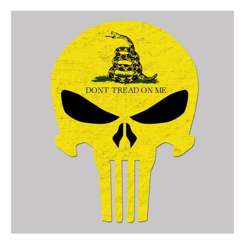 Don't Tread On Me Flag Skull