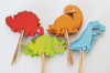 24 Dinosaur Cupcake Toppers & Wrappers