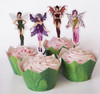24 Season Fairies Cupcake Toppers & Wrappers