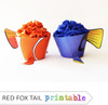 Clown & Dory Fish Cupcake Wrapper and Topper Set