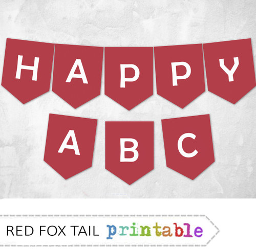 Red Bunting Banner