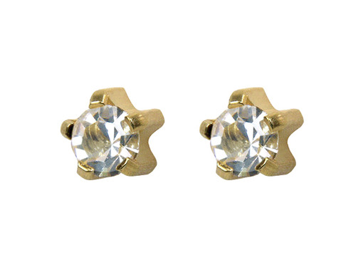 Large CZ Tiffany Studs GP