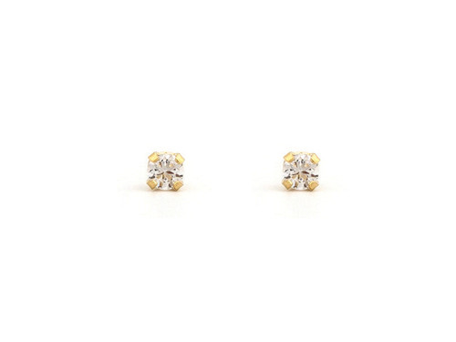 SYS75 14K Solid Gold 2mm CZ