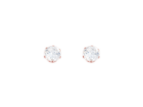 5mm Round CZ Rose Gold