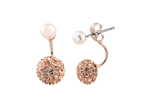 Sparkler Pearl Doubles Rose Gold