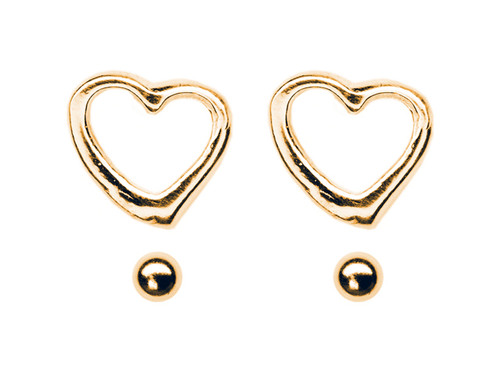 Heart & Ball Stud Set GP