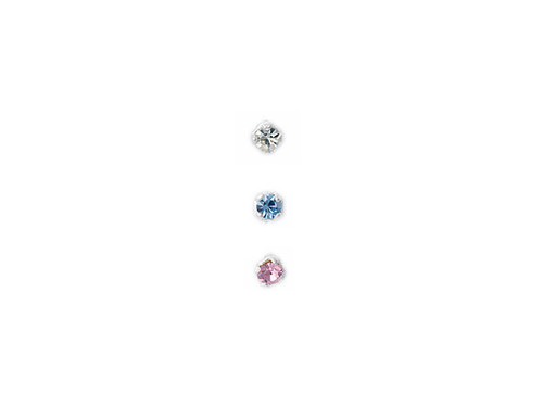 Nose Stud Assorted Silver