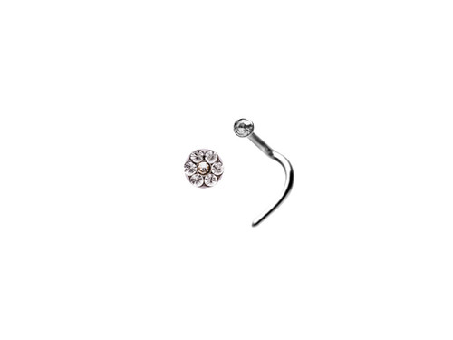 Crystal Daisy Nose Stud S/S/S