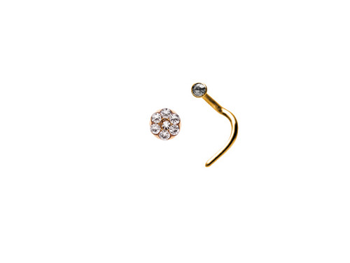 Crystal Daisy Nose Stud GP