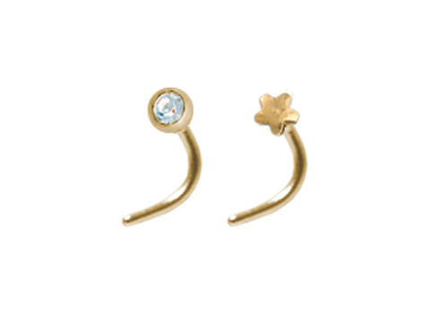 Crystal & Star Twin Nose Studs GP