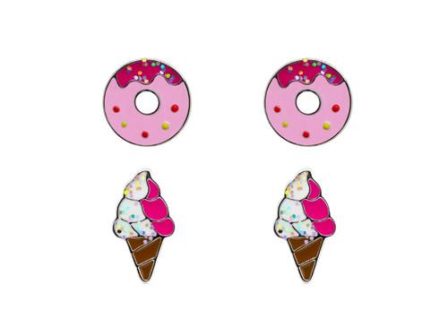 Donut Ice Cream Set Rhodium