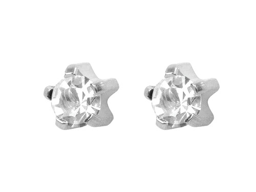 Large CZ Tiffany Studs S/S/S