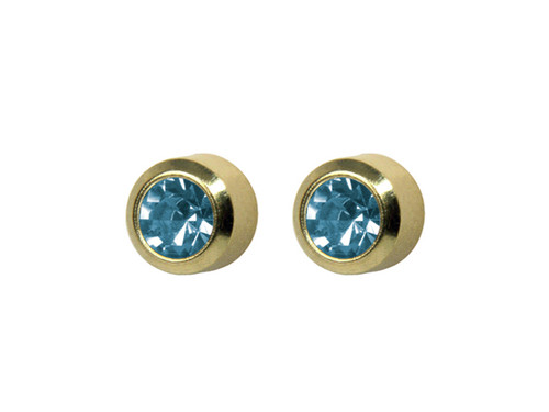SYS75 Bezel Aquamarine Stud 4mm GP