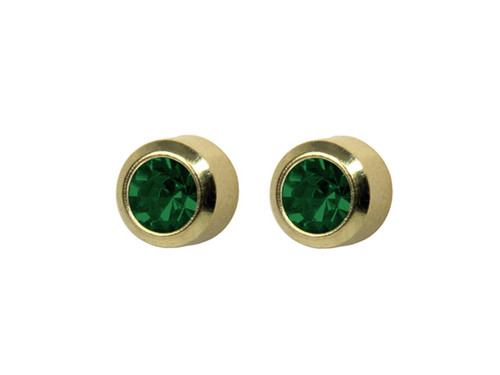 SYS75 Bezel Emerald Stud 4mm GP