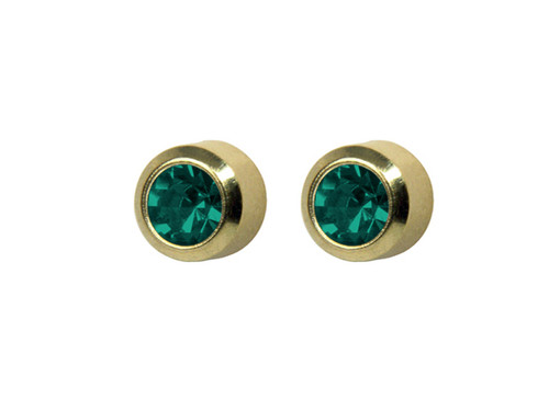 SYS75 Bezel Blue Zircon Stud 4mm GP