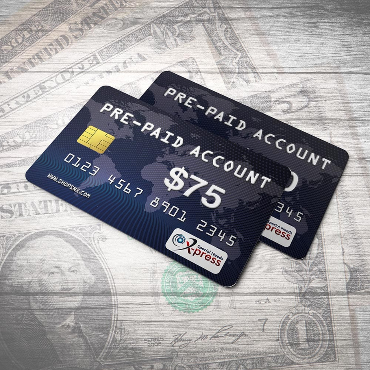 Pre-Paid Account For $75.00