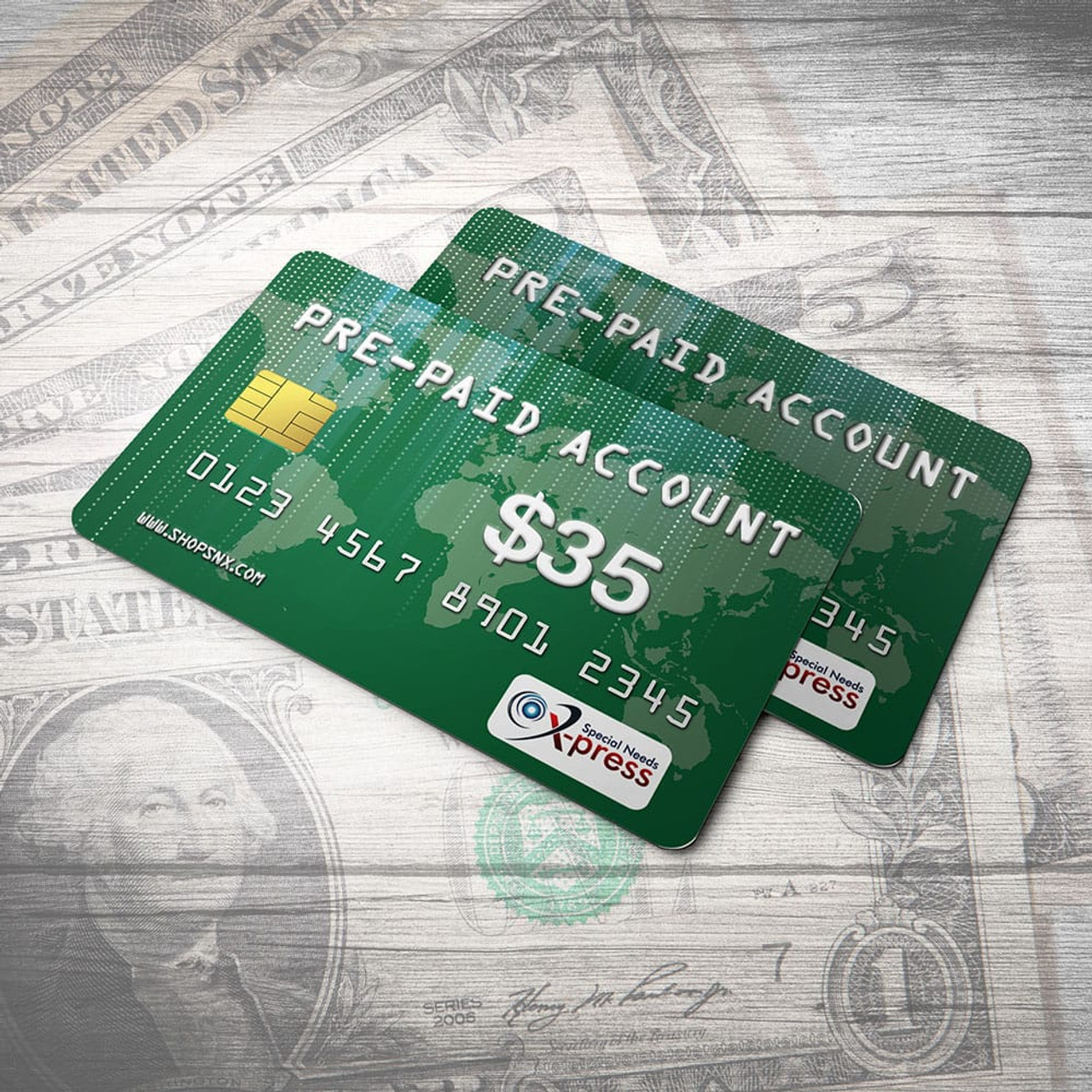 Pre-Paid Account for $35.00