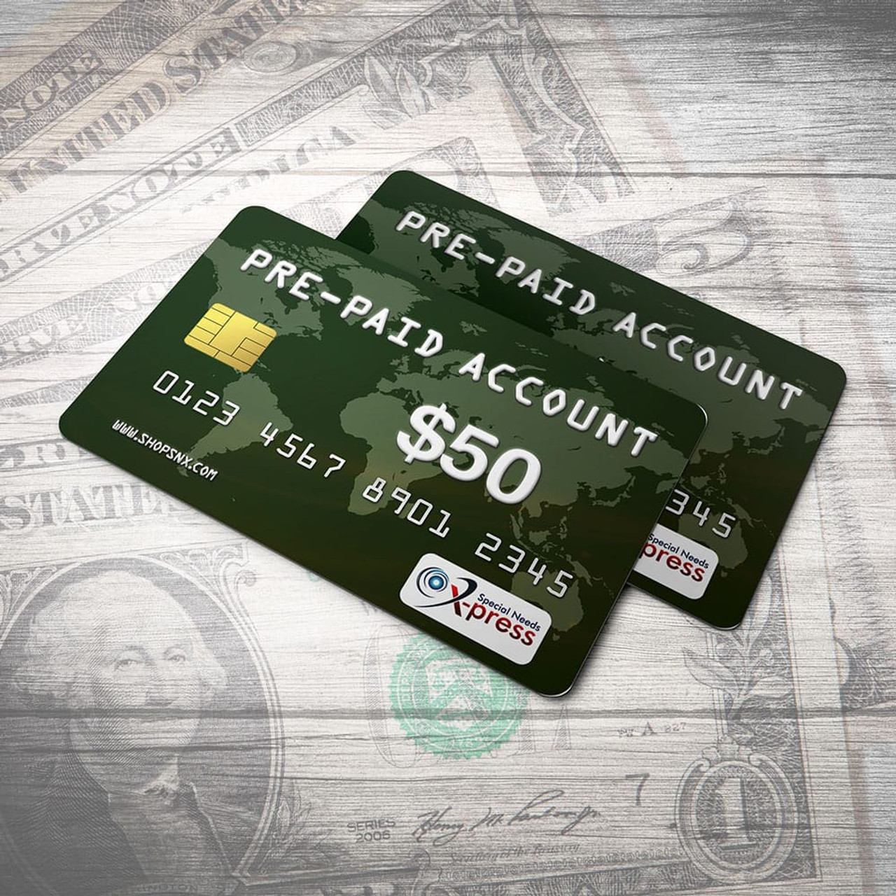 Pre-Paid Account for $50.00