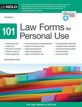 101 Law Forms For Personal Use 3442PB