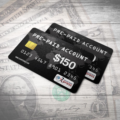 Pre-Paid Account for $150.00