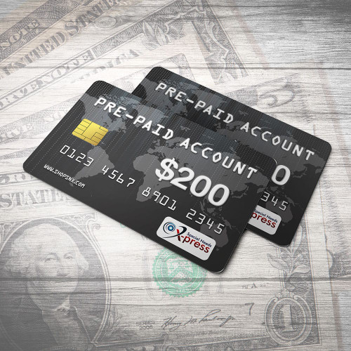 Pre-Paid Account for $200.00