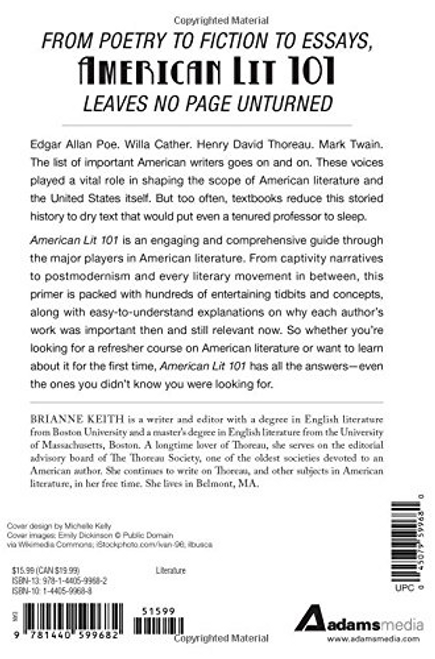 American Lit 101: From Nathaniel Hawthorne to Harper Lee and Naturalism to Magical Realism, an essential guide to American writers and works 4096HC (HARDCOVER)
