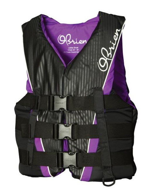 OBRIEN LADIES 3B PRO NYLON VEST PURPLE CCGA