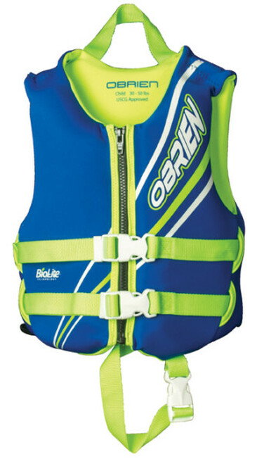 OBRIEN CHILD NEOPRENE VEST 30-60LB CCGA W/NECK FLOAT (18)