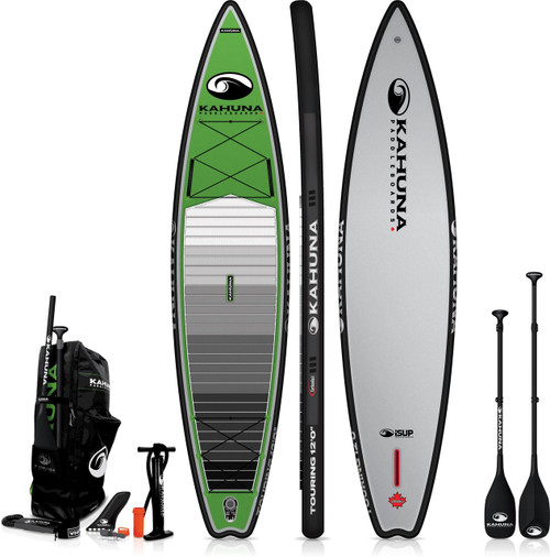 KAHUNA 12' iSUP TOURING INFLATIBLE SUP W/CARBON PADDLE + BAG + PUMP (2021)