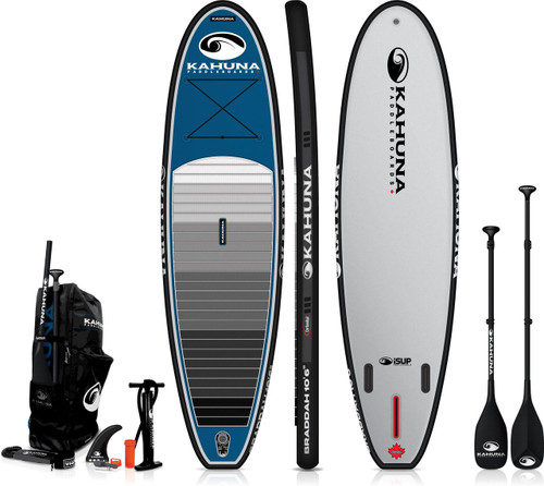 "KAHUNA 10'6"" iSUP BRADDAH INFLATIBLE SUP W/CARBON PADDLE + BAG + PUMP (2021)"