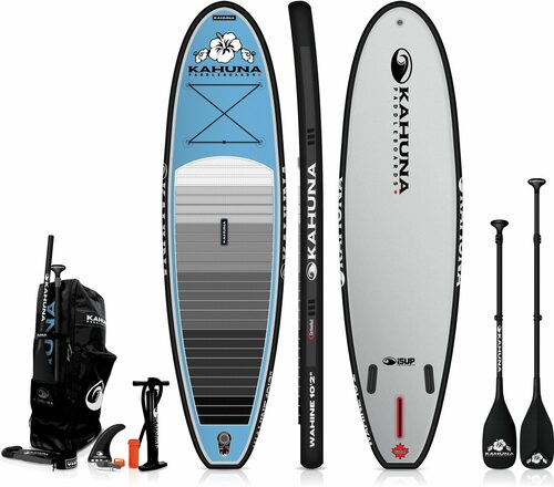 "KAHUNA 10'2"" iSUP WAHINE INFLATIBLE SUP W/CARBON PADDLE + BAG + PUMP (2021)"
