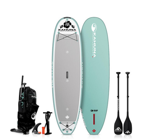 "KAHUNA 10'4"" iSUP ZEN INFLATABLE SUP W/CARBON PADDLE + BAG + PUMP (2021)"