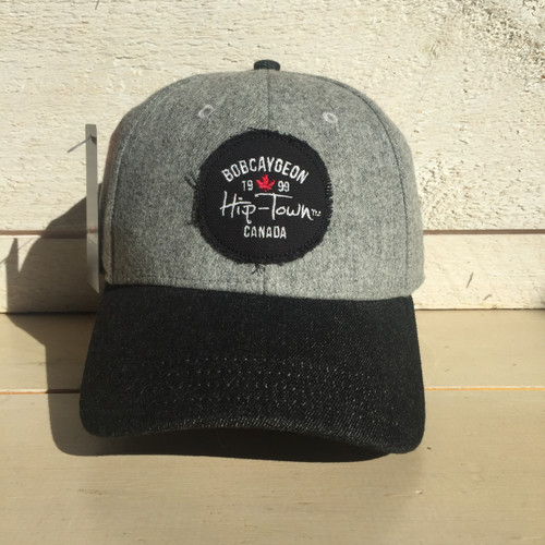 HIP-TOWN BOBCAYGEON CURVED BRIM SNAP BACK HAT