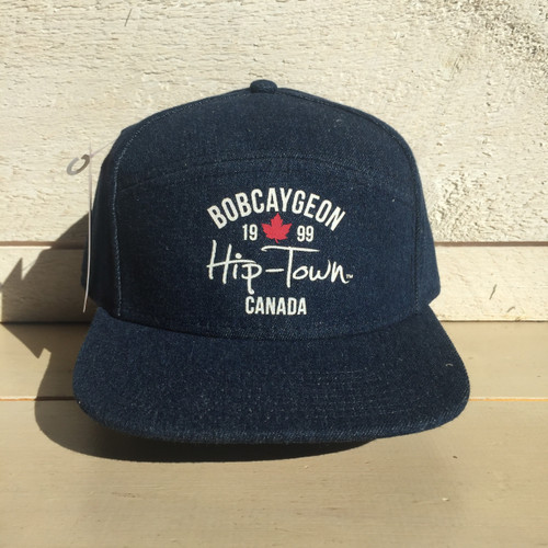 HIP-TOWN STRAIGHT BRIM SNAP BACK HAT
