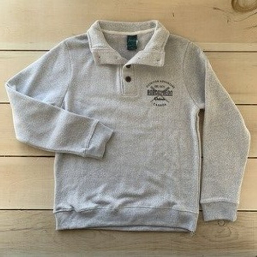 BOBCAYGEON NANTUCKET FLEECE BUTTON HENLEY UNISEX