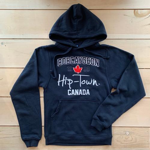 HIP-TOWN BOBCAYGEON APPLIQUE HOODY