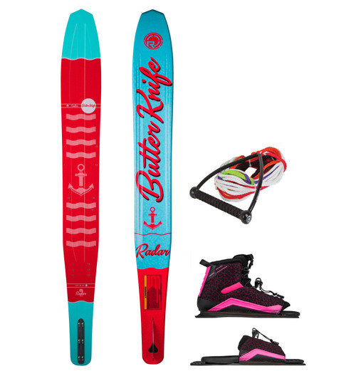 RADAR WOMANS BUTTER KNIFE SKI WITH LYRIC FRONT BOOT AND ARTP + FREE ROPE (2020)