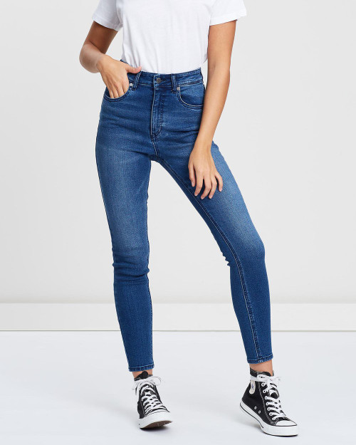 VOLCOM WOMENS LIBERATOR HIGH RISE JEANS
