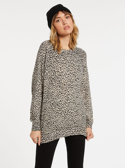 VOLCOM WOMENS OVER N OUT SWEATER