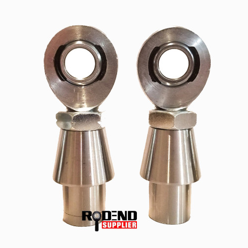 "Pair of  3/4"" Heim Joint Rod Ends, 1.0"" OD Bungs & Nuts"