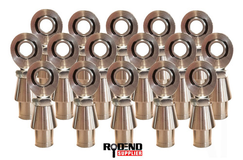 "Full Set (16) 7/8"" X 3/4"" Bore 8 LH & 8 RH Thread Heim Joint, 1.25"" OD Bung & Jam Nuts"