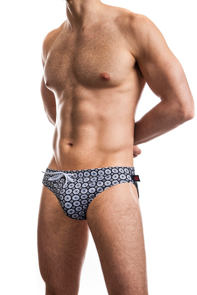"Jack Adams Hipster 1"" Swim Brief in black"
