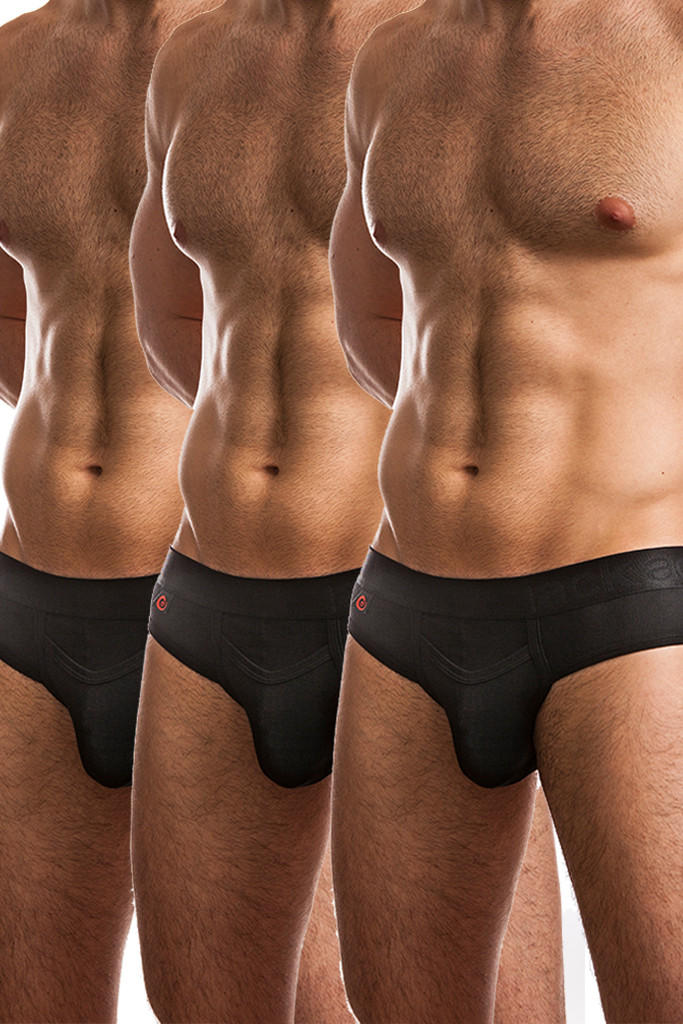 Jack Adams Air Army Brief Multi-Pack - black  (3)