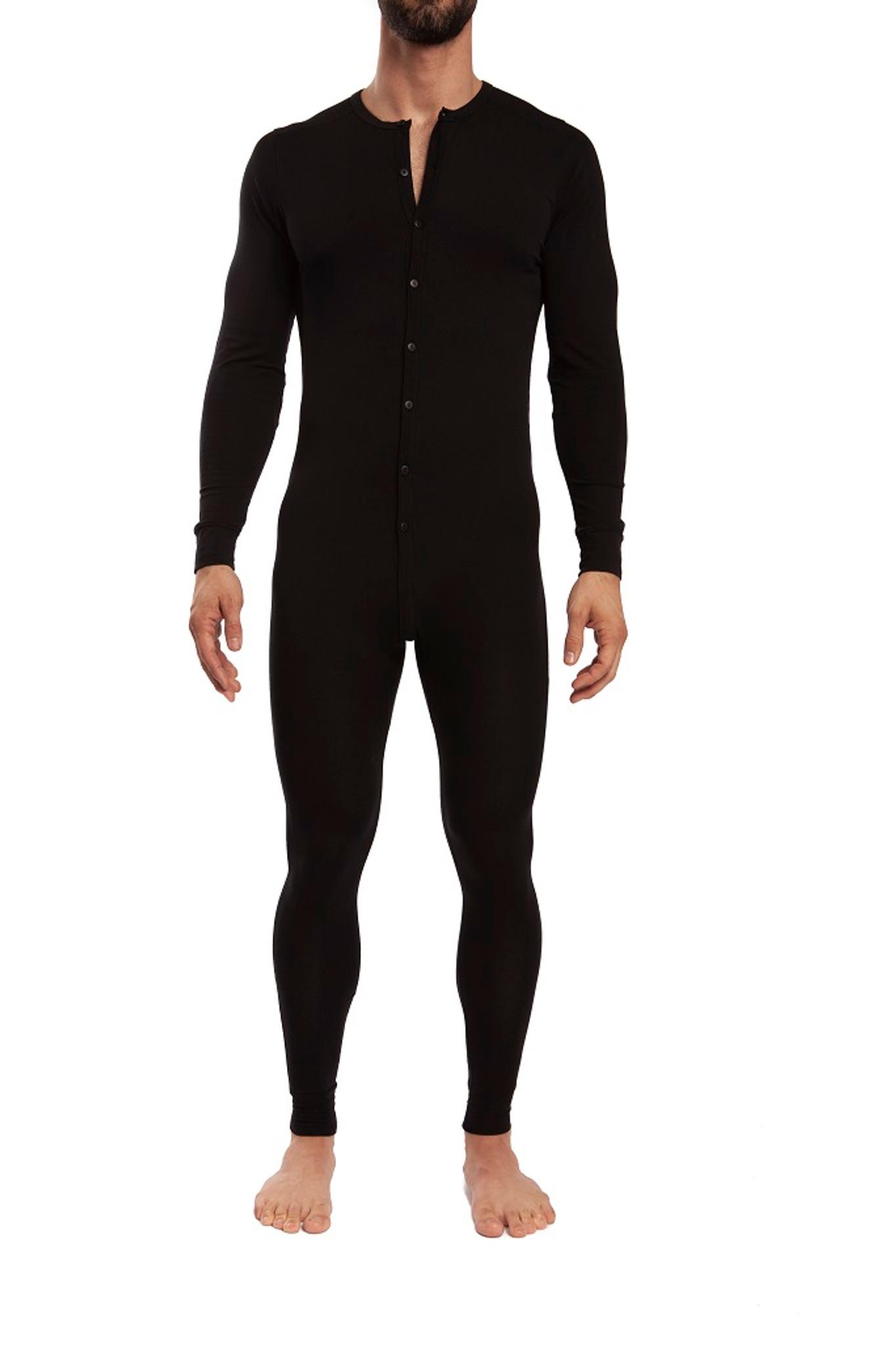 Jack Adams Union Suit in black