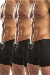 Jack Adams Air Trainer Boxer Brief Multi-Pack in black (3)
